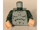 Part No: 973pb0111c01  Name: Torso Harry Potter Merman, Gray Print with Muscles Outline Pattern / Dark Green Arms / Light Flesh Hands