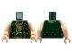 Part No: 973pb1389c01  Name: Torso Vest with Checkered Bandana and Ammunition Belt Pattern / Light Nougat Arms / Light Nougat Hands