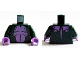 Part No: 973pb2071c01  Name: Torso Medium Lavender Bare Chest, Stomach and Upper Back Pattern (Swamp Monster) / Dark Green Arms / Medium Lavender Hands