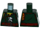 Part No: 973pb2305  Name: Torso Ninjago Robe with Ninja Skull with Crossed Swords, Chest Hair and Dark Red Belt Pattern