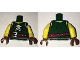 Part No: 973pb2549c01  Name: Torso Ninjago Tattered Shirt with Ninja Skull with Crossed Swords and Red Belt with Silver Buckle Pattern / Yellow Arms / Reddish Brown Hands