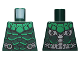 Part No: 973pb3369  Name: Torso Armor, Green Collar and Highlights, Silver Belt and Electrical Contacts on Back Pattern