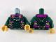 Part No: 973pb3512c01  Name: Torso Armor with Gold, Silver and Magenta Trim Pattern / Dark Green Arms / Pearl Gold Hands