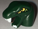 Part No: bb0662pb03  Name: Minifigure, Head Modified Snake Short Neck with Open Mouth with White Fangs and Four Yellow Eyes Pattern