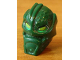 Part No: x1823px1  Name: Minifigure, Head Modified Bionicle Inika Toa Kongu with Lime Eyes Pattern