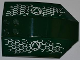 Part No: x224pb022L  Name: Windscreen 8 x 6 x 2 Curved with Atlantis Logo and Fish Scales Pattern Model Left Side (Stickers) - Set 7978