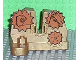 Part No: 44698pb01  Name: Duplo Stand 2 x 4 x 2 with Notch for Lever and Copper Gears Pattern