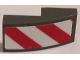 Part No: 11477pb015L  Name: Slope, Curved 2 x 1 with Red and White Danger Stripes (Red and White Corners) Pattern Model Left Side (Sticker) - Sets 60081 / 60083 / 60107