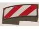 Part No: 11477pb015R  Name: Slope, Curved 2 x 1 with Red and White Danger Stripes (Red and White Corners) Pattern Model Right Side (Sticker) - Sets 60081 / 60083 / 60107