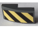 Part No: 11477pb092a  Name: Slope, Curved 2 x 1 with Black and Yellow Danger Stripes Pattern Side A (Sticker) - Set 60214