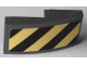 Part No: 11477pb092b  Name: Slope, Curved 2 x 1 with Black and Yellow Danger Stripes Pattern Side B (Sticker) - Set 60214