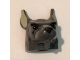 Part No: 12611pb02  Name: Minifigure, Head Modified Rat with Black Eyes, Black Nose and Black Hair Pattern