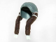 Part No: 13753pb01  Name: Minifigure, Hair Long Braided with White Ties and Brown Braids