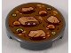 Part No: 14769pb257  Name: Tile, Round 2 x 2 with Bottom Stud Holder with Chinese New Years Soup Pattern
