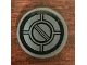 Part No: 14769pb289  Name: Tile, Round 2 x 2 with Bottom Stud Holder with SW Resistance Bomber Hatch Pattern 1 (Sticker) - Set 75188