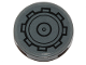 Part No: 14769pb292  Name: Tile, Round 2 x 2 with Bottom Stud Holder with SW AT-ST Gear Pattern (Sticker) - Set 75254