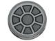 Part No: 14769pb293  Name: Tile, Round 2 x 2 with Bottom Stud Holder with Dark Bluish Gray Fan Pattern (Sticker)