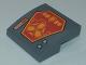 Part No: 15068pb142  Name: Slope, Curved 2 x 2 with Orange Nexo Shields Pattern (Sticker) - Set 70348