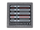 Part No: 15210pb014  Name: Road Sign Clip-on 2 x 2 Square Open O Clip with Computer Screen with White, Red and Black Lines Pattern (Sticker) - Set 76051