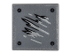 Part No: 15210pb018  Name: Road Sign Clip-on 2 x 2 Square Open O Clip with Black and Silver Scratches and 4 Rivets Pattern 2 (Sticker) - Set 76051