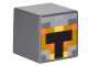 Part No: 19729pb012  Name: Minifigure, Head Modified Cube with Minecraft Skin 1 Pattern