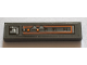 Part No: 2431pb541R  Name: Tile 1 x 4 with Gray and Orange Control Panel Pattern Model Right Side (Sticker) - Set 75144