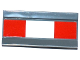 Part No: 2440pb018  Name: Hinge Panel 6 x 3 with 2 Red Squares and White Rectangle Pattern (Sticker) - Set 60104