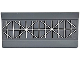 Part No: 2440pb019  Name: Hinge Panel 6 x 3 with White Horizontal, Vertical and Diagonal Lines Radar Pattern (Sticker) - Set 60022