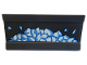 Part No: 2440pb020  Name: Hinge Panel 6 x 3 with White and Blue Snow Chunks Pattern (Sticker) - Set 76098