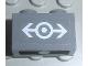 Part No: 3004pb072  Name: Brick 1 x 2 with Train Logo White Medium Pattern (Sticker) - Set 4855