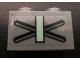 Part No: 3004pb097u  Name: Brick 1 x 2 with X and Sand Green Bar Pattern (Sticker)
