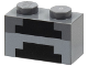 Part No: 3004pb161  Name: Brick 1 x 2 with Minecraft Pixelated Forge Pattern