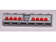 Part No: 3009pb167  Name: Brick 1 x 6 with Grille and Red Taillights Pattern (Sticker) - Set 8158