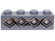 Part No: 3010pb165  Name: Brick 1 x 4 with Diamond Bricks and Cracks Pattern (Sticker) - Set 9473