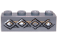 Part No: 3010pb166  Name: Brick 1 x 4 with Diamond Bricks Pattern (Sticker) - Set 9473
