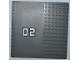Part No: 30225pb06  Name: Baseplate, Road 16 x 16 with Driveway and '02' at Middle Pattern (Sticker) - Set 7945