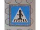 Part No: 30258pb016  Name: Road Sign 2 x 2 Square with Clip with Crosswalk with Minifigure Pattern (Sticker) - Set 8401