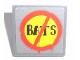 Part No: 30258pb017  Name: Road Sign 2 x 2 Square with Clip with 'BATS' Pattern (Sticker) - Set 7787