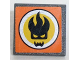 Part No: 30258pb046  Name: Road Sign Clip-on 2 x 2 Square with Agents Dr. Inferno Logo Pattern (Sticker) - Set 8634