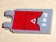 Part No: 30350apb002  Name: Tile, Modified 2 x 3 with 2 Clips (angled clips) with Red Armor with White Triangle Pattern (Sticker) - Set 7701