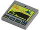 Part No: 3068bpb0163  Name: Tile 2 x 2 with Groove with Jet Attacking Truck and 'ATTACK WARNING' Screen Pattern