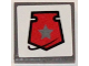 Part No: 3068bpb0779  Name: Tile 2 x 2 with Groove with Space Police 3 Badge on White Background Pattern (Sticker) - Set 5985