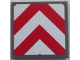 Part No: 3068bpb0855  Name: Tile 2 x 2 with Groove with Chevron Stripes Red and White Pattern (Sticker) - Set 60052