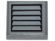 Part No: 3068bpb0882  Name: Tile 2 x 2 with Groove with Black Vent on Dark Bluish Gray Background Pattern (Sticker) - Set 42023