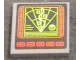 Part No: 3068bpb1185  Name: Tile 2 x 2 with Groove with Computer Screen with Radar, Waved Line and Red Buttons Pattern (Sticker) - Set 76023