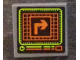 Part No: 3068bpb1190  Name: Tile 2 x 2 with Groove with Computer Screen with Turn Right Arrow in Centre of Grid Pattern (Sticker) - Set 76023