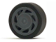 Part No: 30838c01  Name: Wheel 11mm D. x 6mm with 7 Slanted Spokes with Black Tire 14mm D. x 6mm Solid Smooth (30838 / 50945)