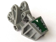 Part No: 32475pb01  Name: Bionicle Foot with Ball Joint Socket 3 x 6 x 2 1/3 with Dark Green Cover and White Triangle Pattern (Sticker) - Set 8100