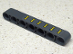 Part No: 32524pb027  Name: Technic, Liftarm 1 x 7 Thick with 6 Yellow Clamps Pattern (Sticker) - Set 42035