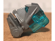 Part No: 32553c08  Name: Bionicle Head Connector Block 3 x 4 x 1 2/3 with Trans-Light Blue Bionicle Head Connector Block Eye/Brain Stalk (32553 / 32554)